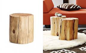 tree stump accent table attractive tree stump side table design with backyard ideas the