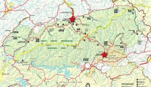 Map Of Tennessee State Parks by Park Entrances To Great Smoky Mountains National Park My Smoky