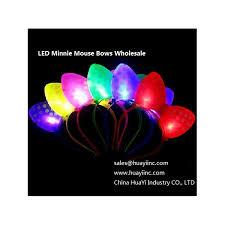 led lighted disney minnie mouse headbands bows hair polka