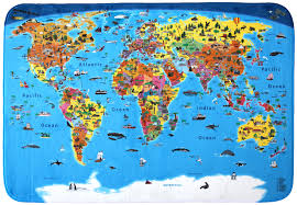 Large World Map Poster by Craenen Welcome