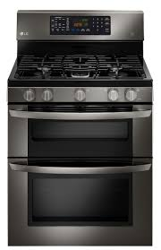 decor stainless steel kitchenaid appliance package with black