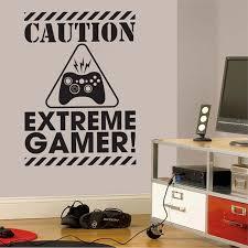 chambre gamer eat repeat vinyl wall sticker joystick gamepad gamer wall
