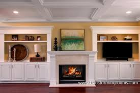 alternatives to built in cabinets beside the fireplace