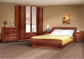 Bedroom Decorating Ideas With Sleigh Bed Bedroom Mid Century Wooden Varnished Nightstand Brown Modern