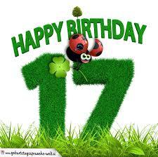 sprüche 17 geburtstag 17 geburtstag als graszahl happy birthday geburtstagssprüche welt