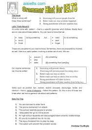 verb pattern prevent ielts english grammar hints andrew s ielts studio 安德魯雅斯教室