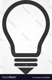 Flat Light Bulb Light Bulb Icon Flat Design Royalty Free Vector Image