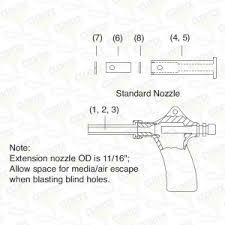 Sandblast Cabinet Parts Gun Assembly 8 Bnp