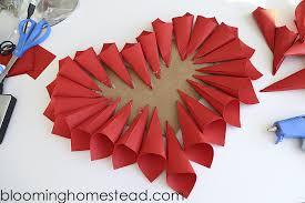 heart wreath diy paper heart wreath blooming homestead