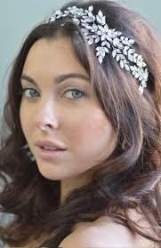 forehead headbands side accented bridal headbands