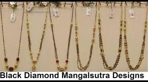 black diamonds necklace images Black diamond mangalsutra necklace jpg