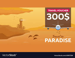 travel voucher images Travel voucher sea travel summer time sea vector image jpg