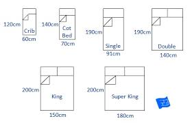 queen size bed in cm sizes and space around the bed
