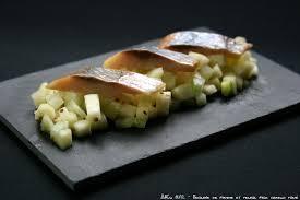 comment cuisiner le hareng fumé brunoise de pomme et fenouil pour hareng fumé