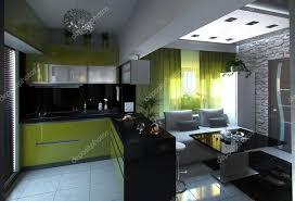 sejour ouvert sur cuisine concept cuisine ouverte et salle de séjour rendu 3d photographie