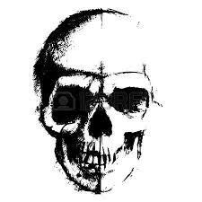 skull sketch element isolated on white background royalty free