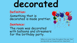 decorate meaning the strongest one vocabulary introduction learning target as a