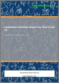 vocabulary workshop level d unit 5 fill online printable