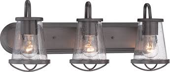 3 light bathroom fixtures designers fountain 87003 wi darby weathered iron 3 light vanity