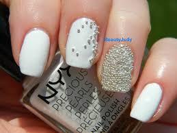 lace and pearls nail art wedding nails pearl nail art design