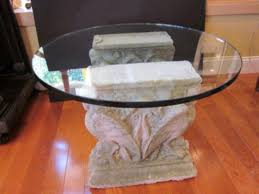 pedestal table base ideas round coffee table pedestal base old stone and glass pedestal