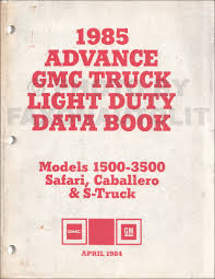 1985 chevy gmc g van wiring diagram original