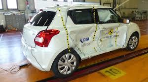 nissan micra crash test three star safety rating for 2017 suzuki swift