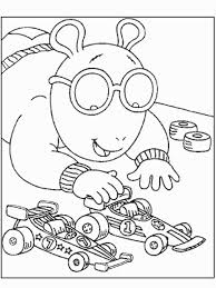 arthur playing toy cars coloring pages kids bv8