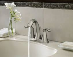 moen brushed chrome bathroom faucets