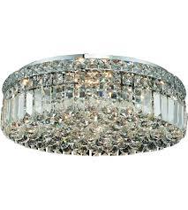 chrome flush mount light elegant lighting v2030f20c ec maxime 6 light 20 inch chrome flush