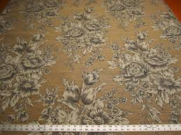 Toile Rugs 3 3 8 Yards Floral Toile Upholstery Fabric