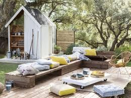 canapé exterieur palette salon de jardin en palette 21 idées à découvrir