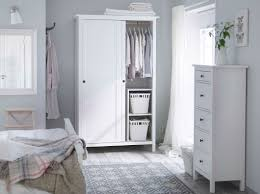 Ikea Modern Bedroom White Furniture Contemporary Bedroom Furnishing Decoration Using Light
