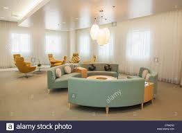 a beautiful and modern waiting room of the los angeles center for