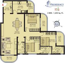 3 bhk home design presidency viva and bedroom flats apartments ranging from