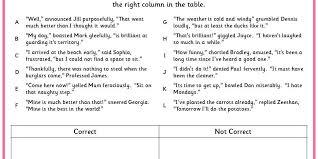 sorting speech punctuation classroom secrets