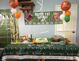 party supplies miami miami hurricanes birthday jb s miami hurricanes football party