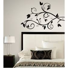 wall decals goingdecor inspired by color by york wallcoverings rmk1799scs border book scroll branch foil leaves decal