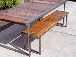 Dining Table Metal Legs Wood Top Dining Tables Product Image Wood Dining Table With Metal Legs