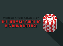 Everytime I Look At You I Go Blind The Ultimate Guide To Big Blind Defense Modern Short Stack Play