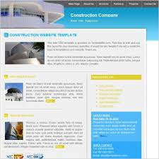 free download layout company profile construction company template free website templates in css html