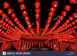 lanterns new year lanterns hanging in rows during lunar new year at