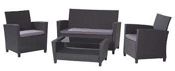 Pvc Wicker Patio Furniture by Amazon Com Cosco Products 4 Piece Malmo Resin Wicker Patio Set
