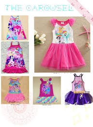 qoo10 my little pony dress mlp dress pony singlet dress