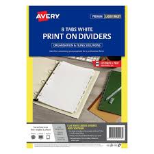 print u0026 apply label dividers white 12 tabs 930114 avery australia