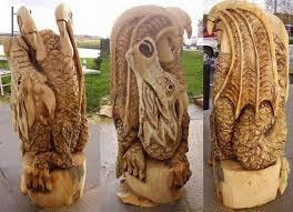 carved by angela polglaze from yarraville australia log