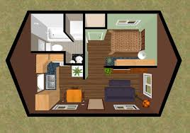 Small House House Plans 3d Top View Of The Floor Plan Of The 320 Sq Ft Skylight Mountain