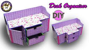 Diy Desk Organization by Diy Desk Organizer Drawer Organizer From Card Board Best Out