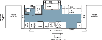 Rockwood Trailers Floor Plans 2005 Forest River Rockwood Roo Travel Trailer Rvweb Com