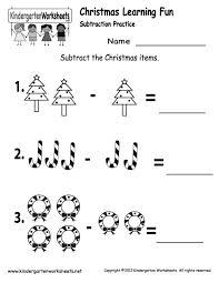 free christmas worksheets for kindergarten koogra